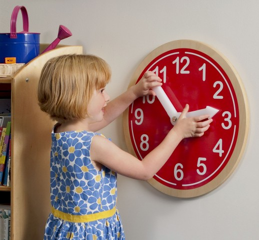 What Time Is It Red Wall Clock