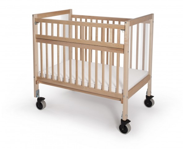 Infant Clear View Folding Rail Evacuation Crib