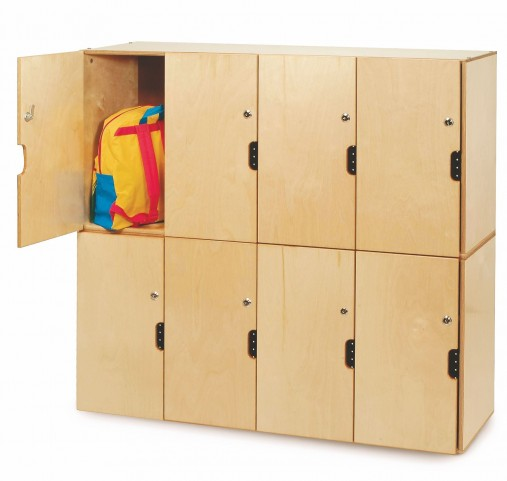 Backpack Storage with Locking Doors