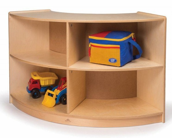 Back Curve In Curved Storage Cabinet