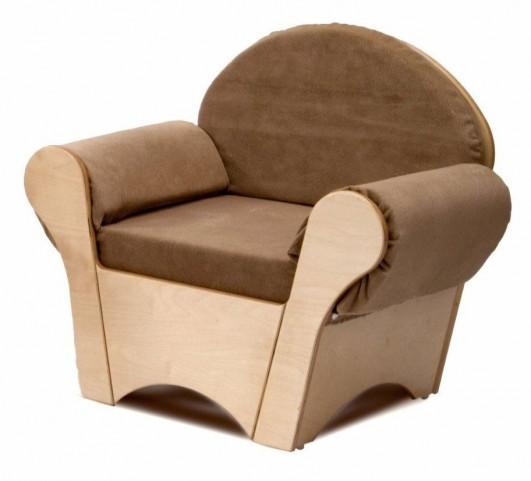 Tan Child's Easy Chair