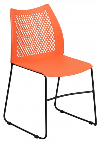 Hercules Series Orange Sled Base Stack Chair