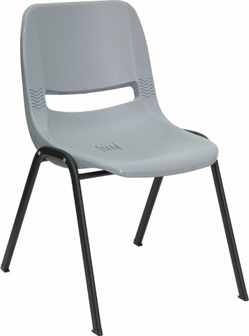 Hercules Gray Ergonomic Shell Stack Chair