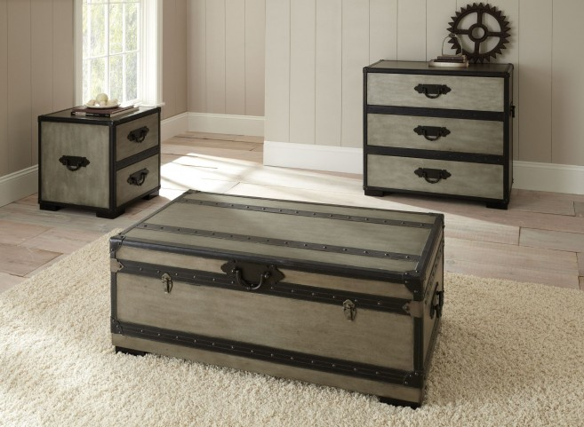 Rowan Weathered Gray Occasional Table Set