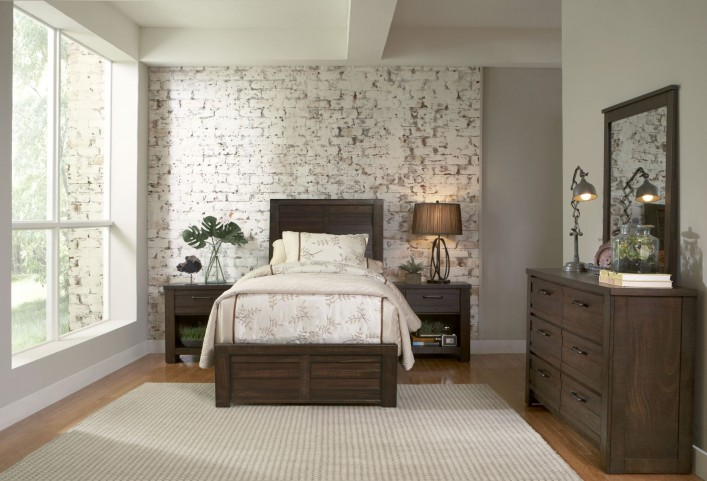 Ruff Hewn Brown Youth Panel Bedroom Set