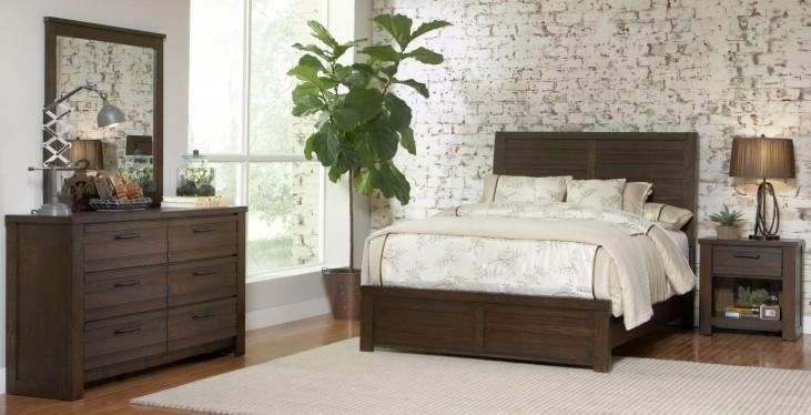 Ruff Hewn Brown Panel Bedroom Set