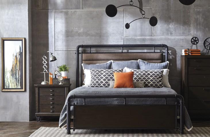 Fulton St. Brown Metal Bedroom Set