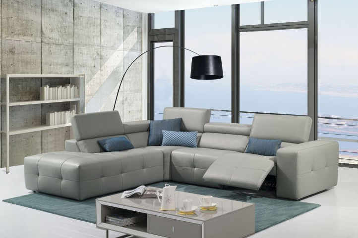 S300 Italian Leather Sectional