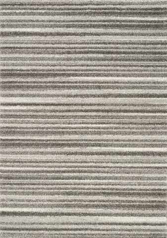 Sable Grey and White Thin Stripes Large Rug