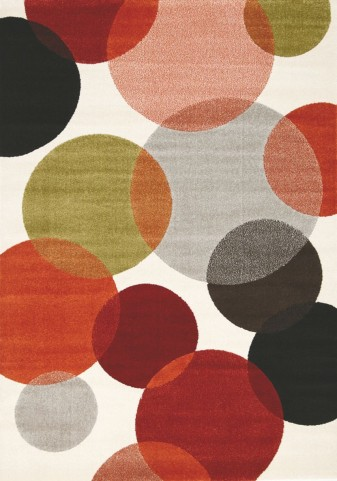 "Safi Colorful Bubbles 63"" Rug"