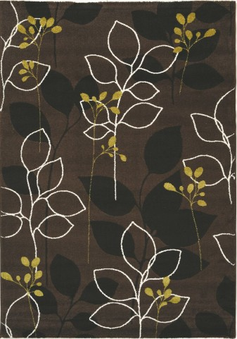 "Safi Magical Green Brown Forest 94"" Rug"