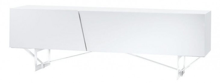 Saleen White Gloss Lacquer TV Stand