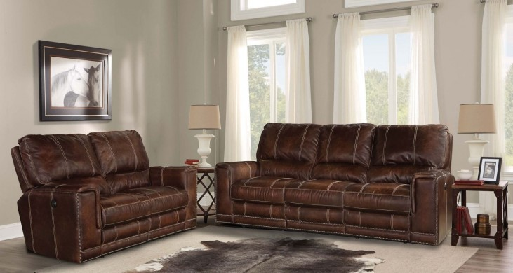 Salinger Maple Dual Power Reclining Living Room Set