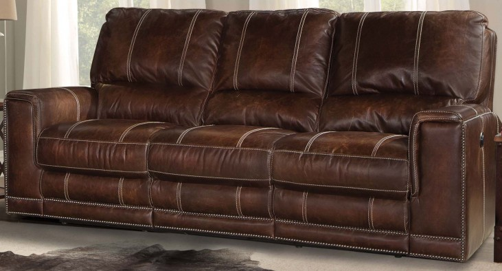 Salinger Maple Dual Power Reclining Sofa