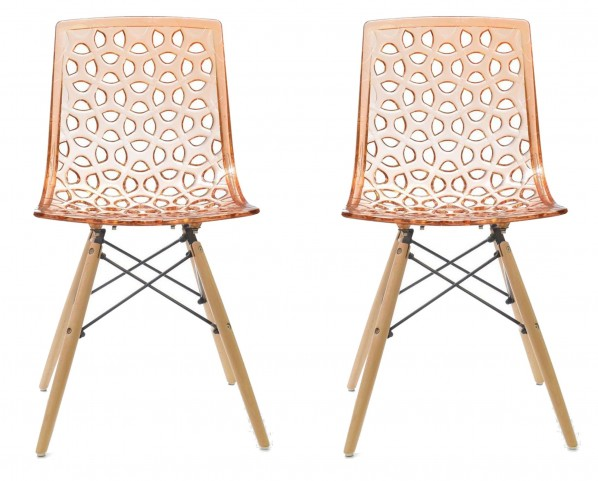 Euro Home Sandra Orange Chair Set of 2