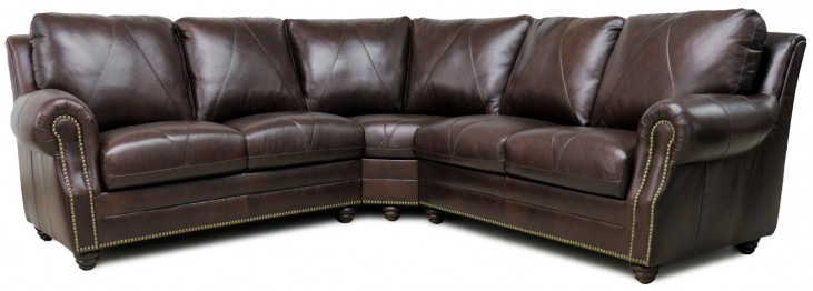 Solomon Italian Leather Sectional