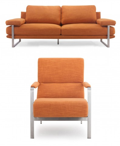 Jonkoping Sunkist Orange Living Room Set