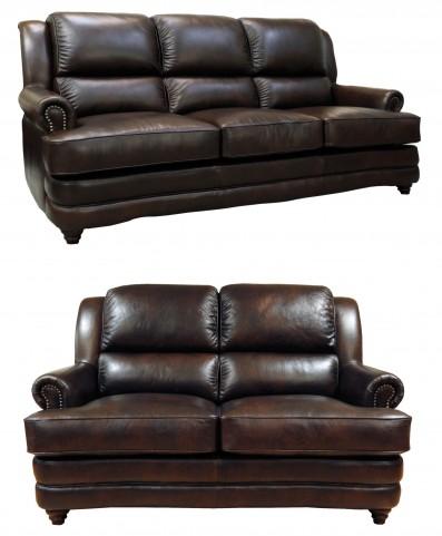 Bentley Chocolate Living Room Set
