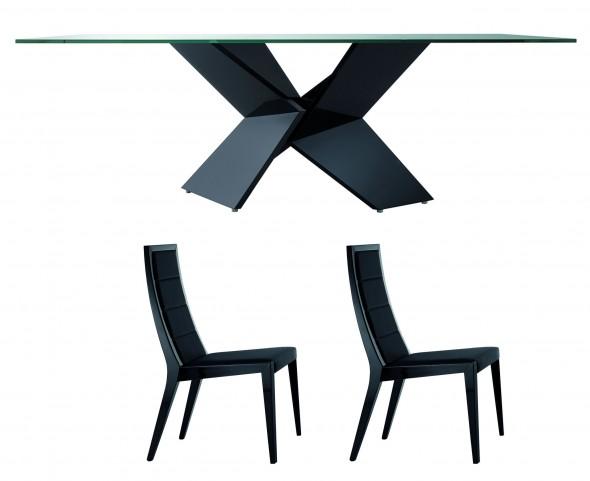 Sapphire Black Dining Room Set