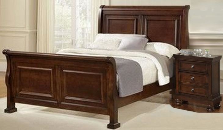 Reflections Dark Cherry Sleigh Bedroom Set