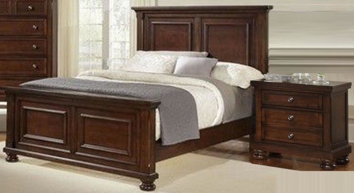 Reflections Dark Cherry Mansion Bedroom Set