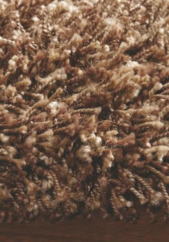 """Seville Speckled Brown Shoestring Shag 94"""" Rug"""