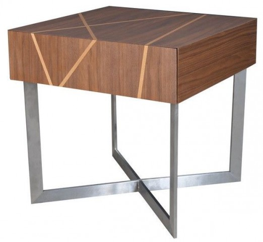 Shadow Brushed Stainless Steel End Table