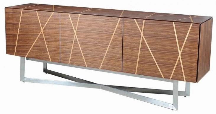 Shadow Brushed Stainless Steel TV Stand
