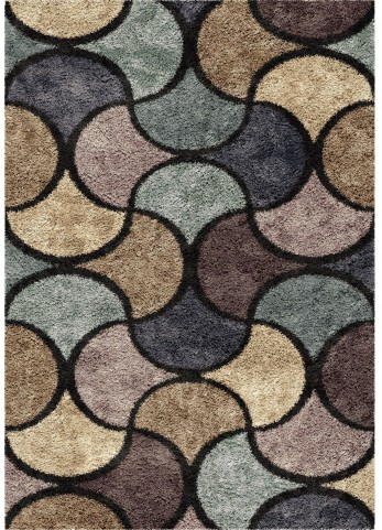 Orian Rugs Shag Geometric Halfmoon Multi Area Medium Rug