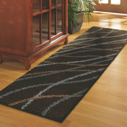 Gentle Breeze Brown Runner Rug