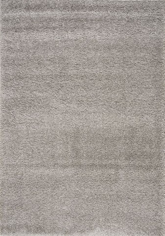 Shaggy Solid Silver Medium Rug