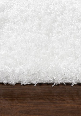 Shaggy Solid White Medium Rug