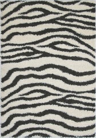 "Shaggy Zebra 63"" Rug"