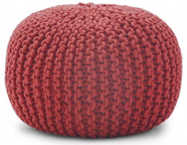 "Big Joe 16"" Rope Orange Pouf"