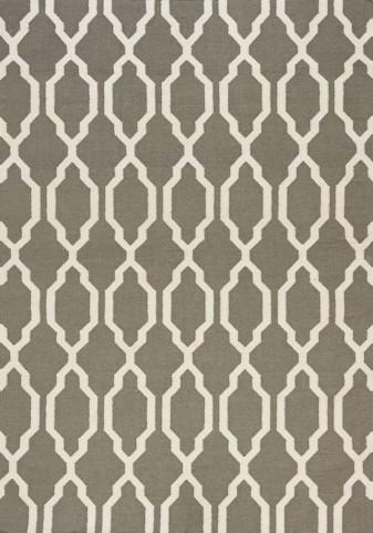 Shore Grey/Cream Moroccan Flatweave Medium Rug