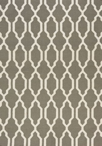 Shore Grey/Cream Moroccan Flatweave Small Rug