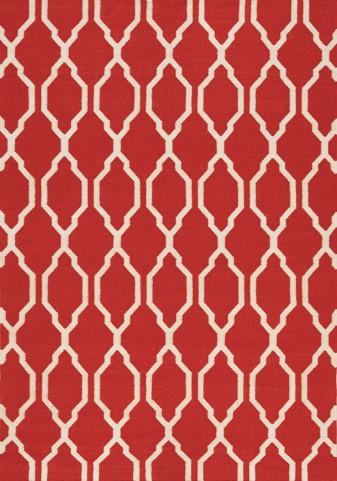 Shore Red/Cream Moroccan Flatweave Small Rug