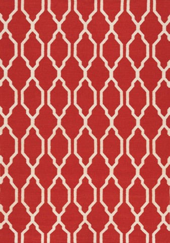 Shore Red/Cream Moroccan Flatweave Medium Rug