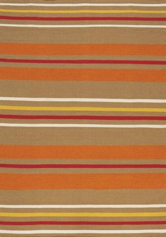 Shore Brown/Orange Stripes Flatweave  Medium Rug