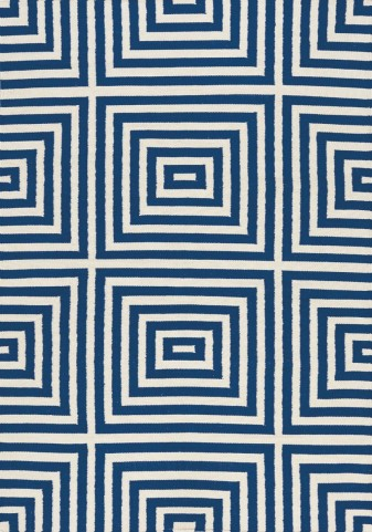 Shore Navy/Cream Optical Illusion Flatweave  Large Rug