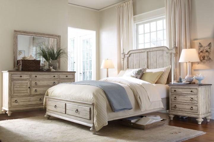 Weatherford Cornsilk Westland Storage Bedroom set