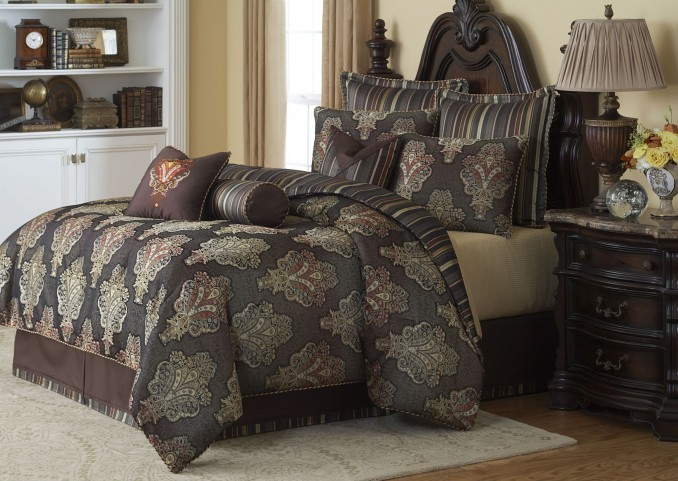 Sienna Chocolate 10 piece King Comforter Set