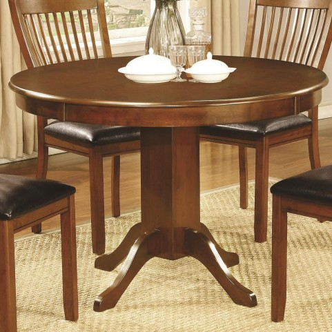Sierra Amber Round Pedestal Dining Table