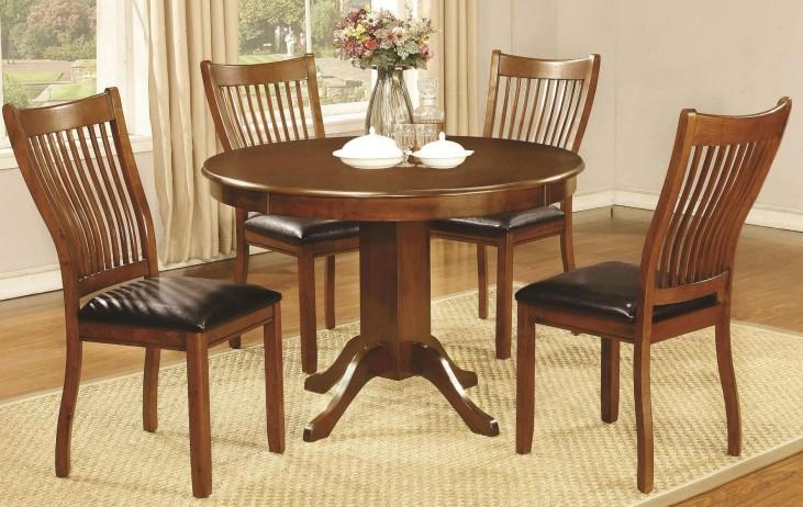 Sierra Amber Round Pedestal Dining Room Set