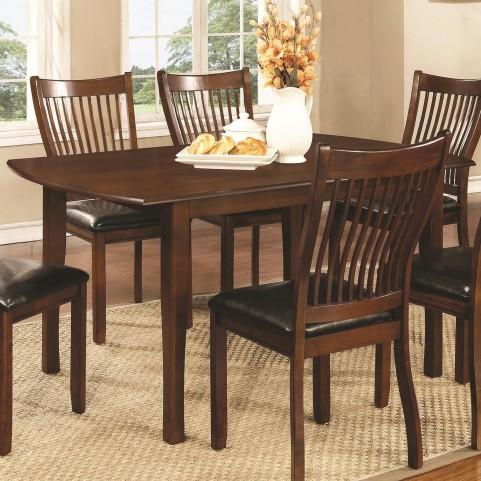 Sierra Cherry Brown Rectangular Dining Table