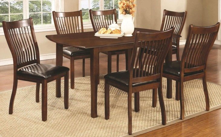 Sierra Cherry Brown Rectangular Dining Room Set