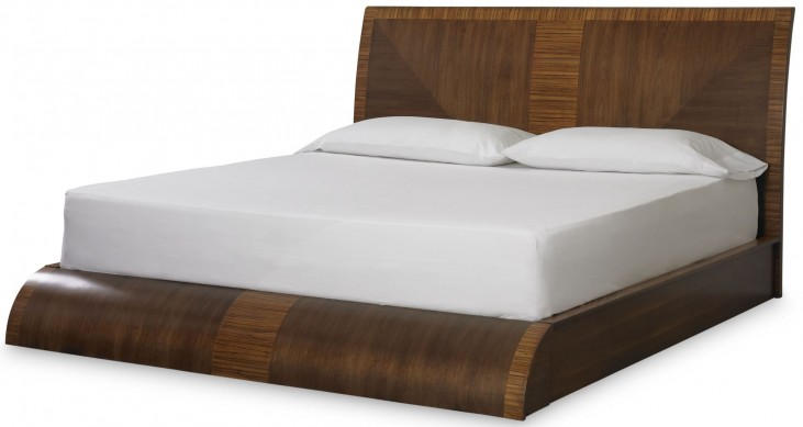 Milan Medium Brown Queen Platform Bed