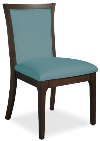 Improv in B Clear Brown and Maxi Teal Fabric Side Chair
