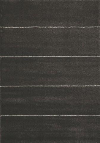 """Silken Four Lines Black 94"""" Rug"""