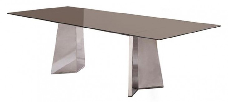 Silvia Sand Brown Extendable Rectangular Dining Table